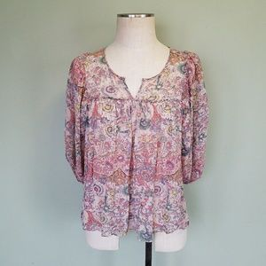 Anthropologie Lil Gemma Peasant Blouse